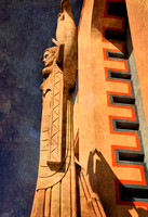 Art Deco Angel-Layered, historical building, Fair Park, Dallas, Texas